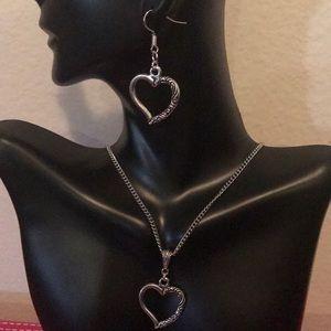 Jewelry - SILVER TIBETAN SILVER HEART SET (HANDMADE)